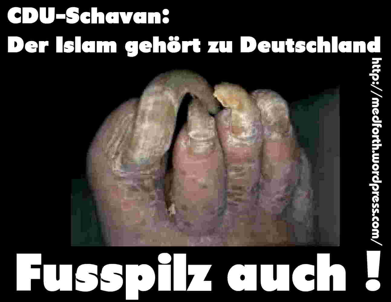 CDU-Schavan: Der Islam gehört zu Deutschland ! Und warum ? Na klar ...: https://medforth.wordpress.com/2011/04/10/cdu-schavan-der-islam...