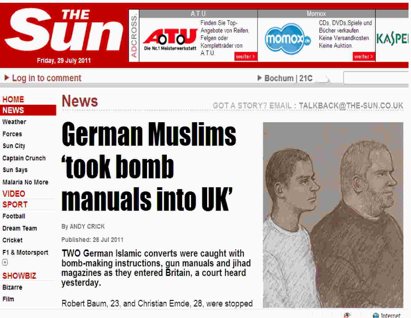 """Focus"""": In England verhaftete deutsche Konvertiten gehörten zu ..."""